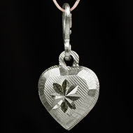 Heart Locket - in Pure Silver - Design IV