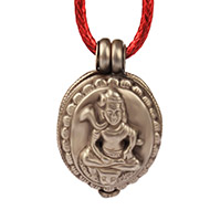 Shiva Locket in Pure Silver - Design XI