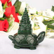 Kurma Shree Yantra in Green Jade - 605 gms