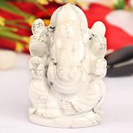 Howlite Ganesha - 103gm