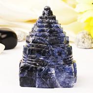 Shree Yantra in Blue Sodalite - 109 gms