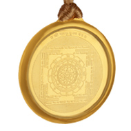 Mahamritunjaya Yantra Locket - Gold Plated