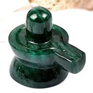Green Jade Shivlinga - 173 gms