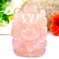 Rose Quartz Ganesha - 196 gms