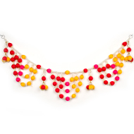 Designer Red and Yellow Toran with Pearls