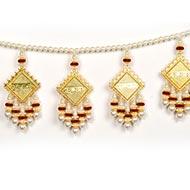 Auspicious Subh Labh Diwali Toran with Pearl