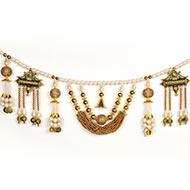 Designer White and Golden Diwali Door Toran