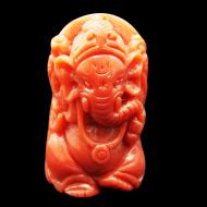 Coral Ganesha - 32.40 carats