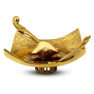 Gemstone Kurma with Brass Designer Bowl - II