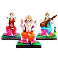Ganesh - Laxmi - Saraswati idols in bonded marble
