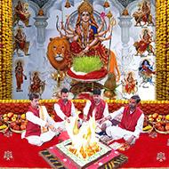 Ghatsthapana at Durga Mata Temple with Akhand Jyot