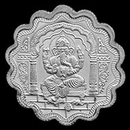Designer OM Ganesh Pure Silver Coin
