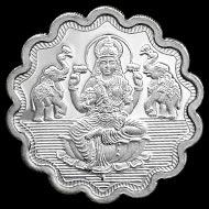 Designer Shree GajaLaxmi Pure Silver Coin