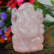 Rose Quartz Ganesha - 60 gms