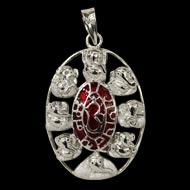 Shree Astha Vinayak Ganesh Locket in Pure Silver