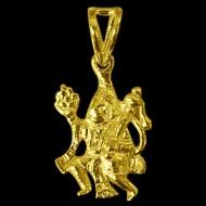 Hanuman locket - in pure gold - 3.09 gms