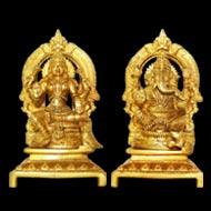 Lakshmi Ganesh in Brass - I
