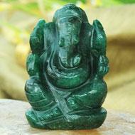 Green Jade Ganesha - 80 gms