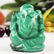 Malachite Ganesha - 76 gms