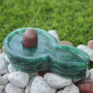 Narmada Lingam with Greenjade yoni base - II