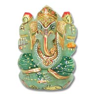 Exotic Ganesh Idol in Green Jade - 203 gms