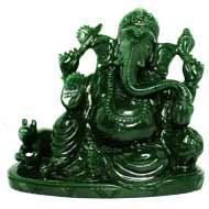 Ganesha in Columbian Green Jade  - 843 gms