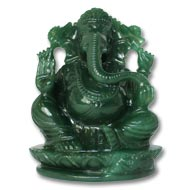 Ganesha in Columbian Green Jade  - 751 gms