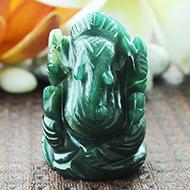 Ganesha Columbian Green Jade - 71 gms