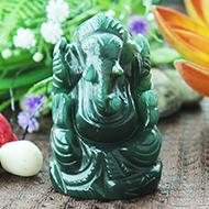 Ganesha Columbian Green Jade - 92 gms