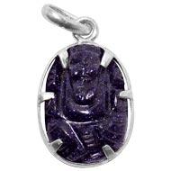 Ganesh Locket in Gemstones