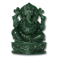 Ganesha in Columbian Green Jade  - 917 gms