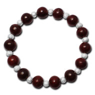 Red Sandalwood Round Bracelet - Design II