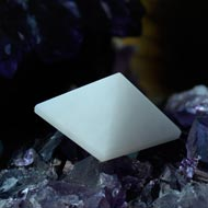Pyramid in White Agate