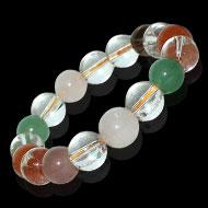 Gemstone  Bracelet -   Round Beads