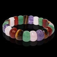 Navratna Gemstones Faceted Bracelet - Oval beads - I