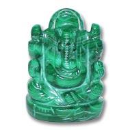Malachite   Ganesha - 114 gms