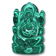 Malachite Ganesha - 70 gms