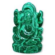 Malachite Ganesha - 95 gms