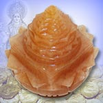 Yellow Jade Shree Yantra   on  Lotus - 468  gms