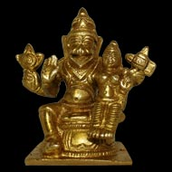 Narasimha Lakshmi in Brass - small