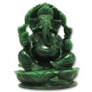 Ganesha Columbian Green Jade - 913 gms