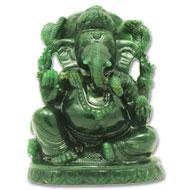 Ganesha Columbian Green Jade - 644 gms