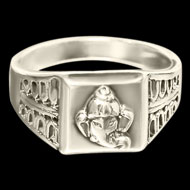 Ganesha Ring in Pure Silver - Design XI