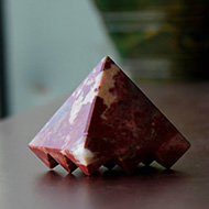 Multi Pyramid in Red Jade
