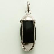 Black Narmada Lingam in silver  locket