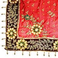 Designer Floral Chunri -