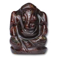Gomedh Ganesha - 82 carat