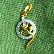 Om Locket in Pure Gold - Design X