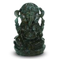 Iolite Ganesha - 611 gms