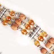 4 mukhi Java Triple Turn Bracelet with Citrine beads